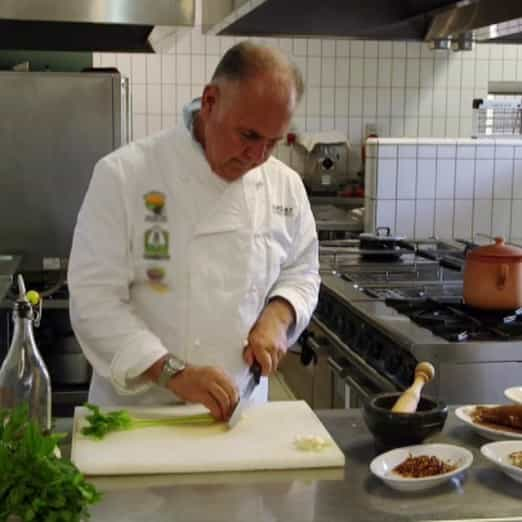 Alessandro Chiarelli into the kitchen